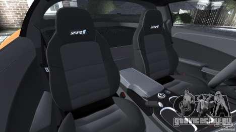 Chevrolet Corvette ZR1 для GTA 4 салон