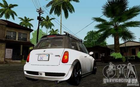 Mini Cooper S Tuned для GTA San Andreas вид справа