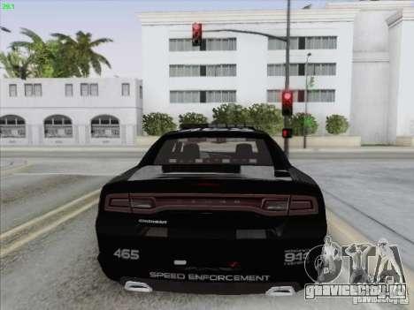 Dodge Charger 2012 Police для GTA San Andreas вид снизу