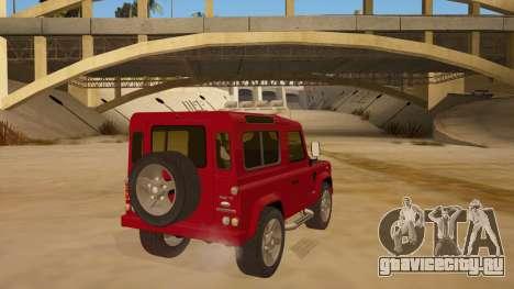 Land Rover Defender для GTA San Andreas вид справа
