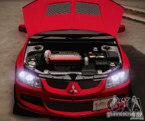 Mitsubishi Lancer Evolution VIII MR Edition для GTA San Andreas вид изнутри