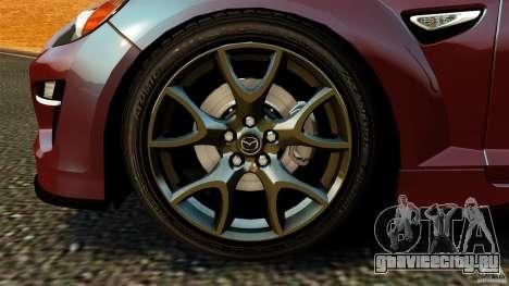 Mazda RX-8 R3 2011 для GTA 4 вид изнутри