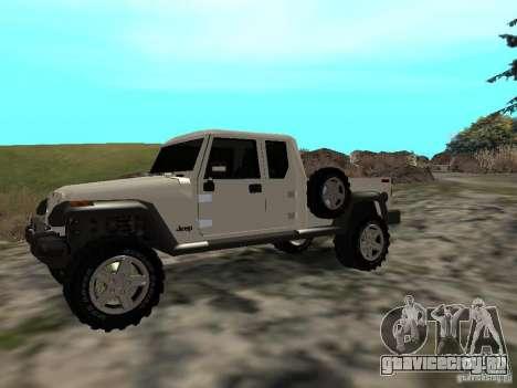 Jeep Gladiator для GTA San Andreas вид слева