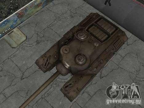 ПТ-САУ T95 для GTA San Andreas вид изнутри