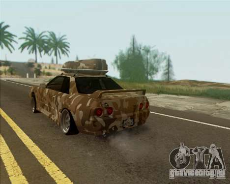 Nissan Skyline R33 Army для GTA San Andreas вид слева