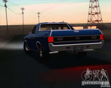 Chevrolet EL Camino SS 70 для GTA San Andreas вид сбоку