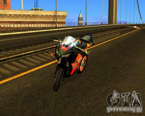 HONDA CBR 1000RR Repsol для GTA San Andreas вид изнутри