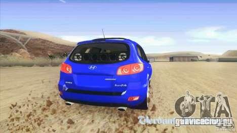 Hyundai Santa Fe 2009 для GTA San Andreas вид сзади слева