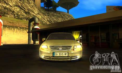 Volkswagen Phaeton 2005 для GTA San Andreas вид сзади слева