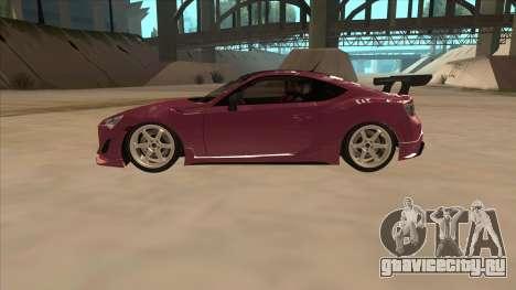 Toyota GT86 Drift 2013 для GTA San Andreas вид слева