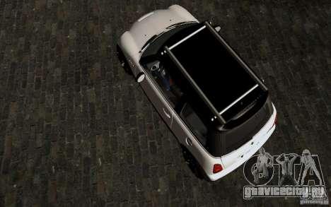 Mini Cooper S Tuned для GTA San Andreas вид изнутри