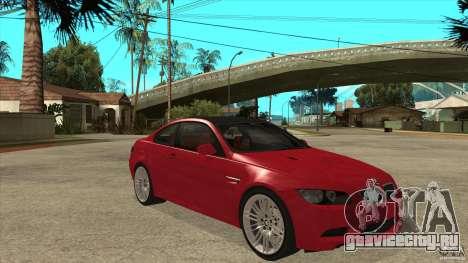 BMW M3 E92 для GTA San Andreas вид сзади
