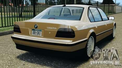 BMW 750iL E38 1998 для GTA 4 вид сзади слева