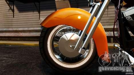 Harley Davidson Fat Boy Lo Vintage для GTA 4 вид изнутри