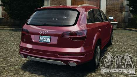Audi Q7 V12 TDI v1.1 для GTA 4 вид сзади слева