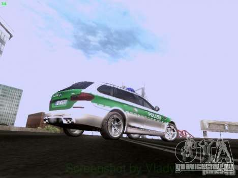 BMW M5 Touring Polizei для GTA San Andreas вид сзади