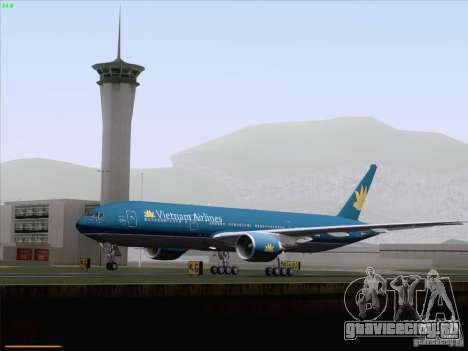 Boeing 777-2Q8ER Vietnam Airlines для GTA San Andreas вид сверху