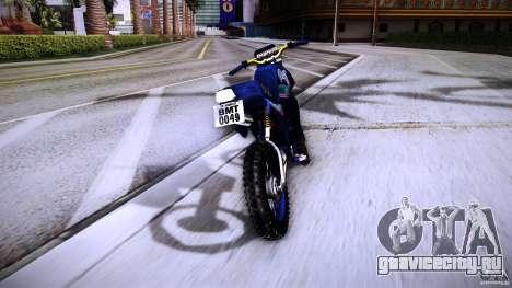 Yamaha DT 180 для GTA San Andreas вид сзади