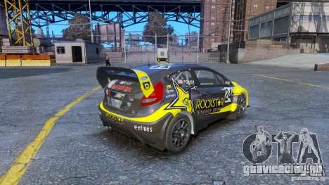 Ford Fiesta Rallycross для GTA 4 вид сзади слева