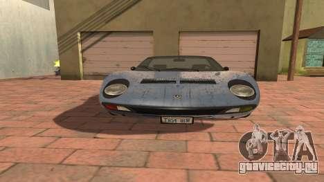 Lamborghini Miura P400 SV 1971 V1.0 для GTA San Andreas вид сбоку