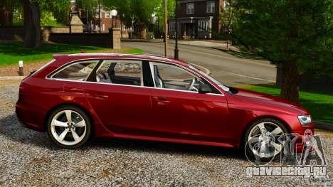 Audi RS4 Avant 2013 для GTA 4 вид слева
