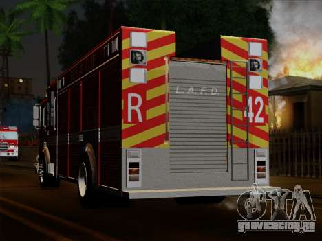 Pierce Contender LAFD Rescue 42 для GTA San Andreas вид сбоку