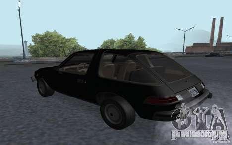AMC Pacer для GTA San Andreas вид слева