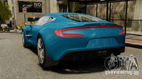 Aston Martin One-77 для GTA 4 вид сзади слева