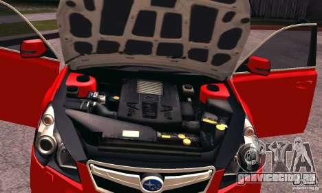 Subaru Legacy B4 2010 для GTA San Andreas вид сбоку