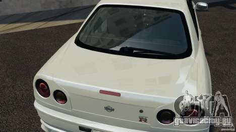 Nissan Skyline GT-R R34 для GTA 4 вид сбоку