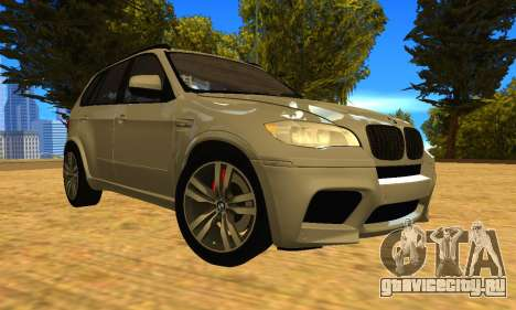 BMW X5M 2013 v2.0 для GTA San Andreas вид сзади