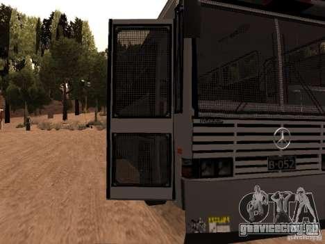 Mercedes Benz SWAT Bus для GTA San Andreas вид сзади
