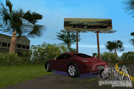 Porsche Cayman для GTA Vice City вид слева