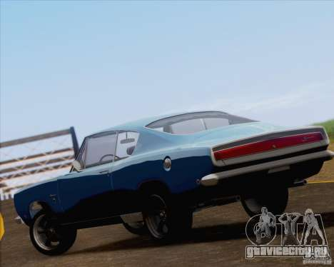 Plymouth Barracuda 1968 для GTA San Andreas вид сбоку