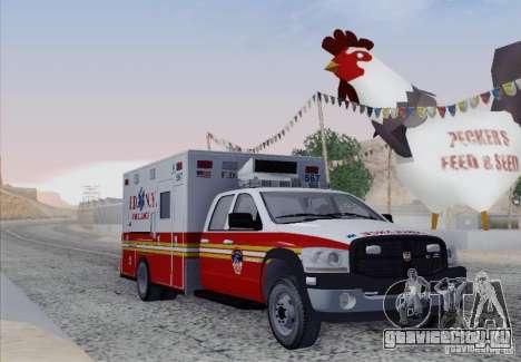 Dodge Ram Ambulance для GTA San Andreas вид слева