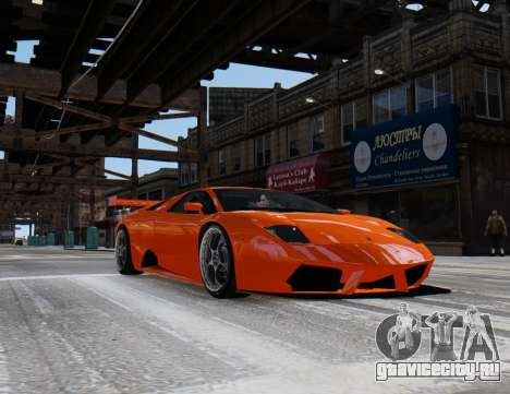 Lamborghini Murcielago RSV FIA GT1 для GTA 4 вид сзади слева