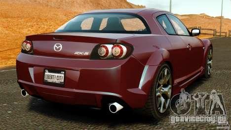 Mazda RX-8 R3 2011 для GTA 4 вид сзади слева
