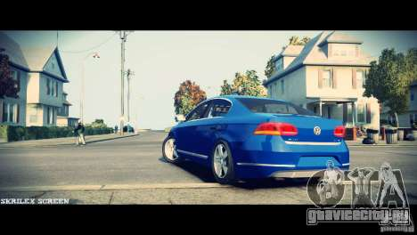 VW Passat B7 TDI Blue Motion для GTA 4 вид сзади
