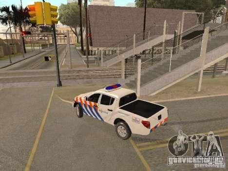 Mitsubishi L200 Police для GTA San Andreas вид слева