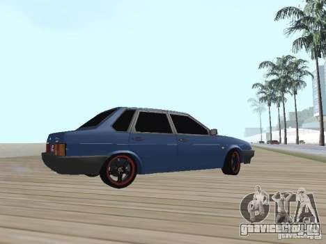 ВАЗ 21099 v2 для GTA San Andreas вид сзади слева