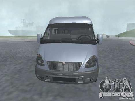 ГАЗель 2705 Грузопасажирская для GTA San Andreas вид слева