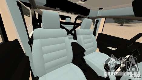 Jeep Wrangler Rubicon 2012 для GTA 4 вид изнутри