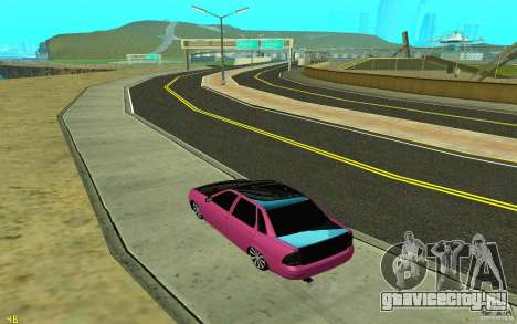 ВАЗ 2170 для GTA San Andreas вид справа