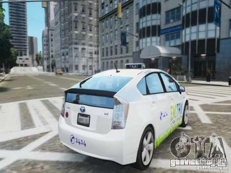 Toyota Prius EKO TAXI (Hrvatski taxi) для GTA 4 вид сзади слева