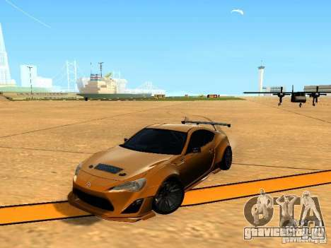 Toyota FT86 Rocket Bunny V2 для GTA San Andreas вид сбоку