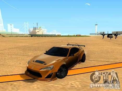 Toyota FT86 Rocket Bunny V2 для GTA San Andreas вид сбоку