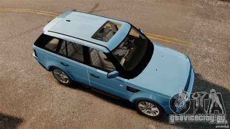 Land Rover Range Rover Sport Supercharged 2010 для GTA 4 вид справа