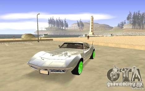 Chevrolet Corvette Stingray Monster Energy для GTA San Andreas вид слева