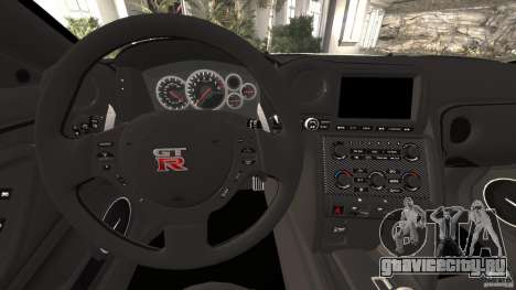 Nissan GT-R 2012 Black Edition для GTA 4 двигатель