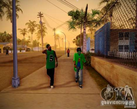 Skins pack gang Grove для GTA San Andreas пятый скриншот